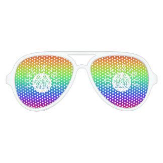 Love is Love Typography Gay Pride LGBT Rainbow Aviator Sunglasses