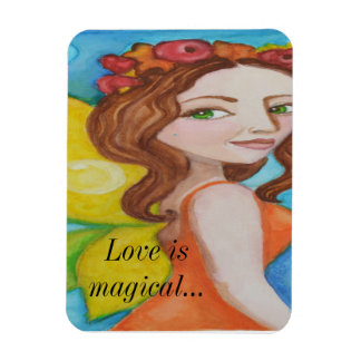 Love is Magical beautiful fairy magnet