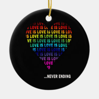 LOVE IS... NEVER ENDING CERAMIC ORNAMENT