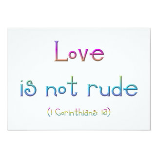 """Love is not rude"" Personalized Invitation"