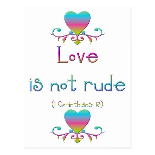 """Love is not rude"" Postcards"