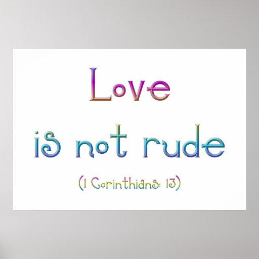 """""""Love is not rude"""" Print"""