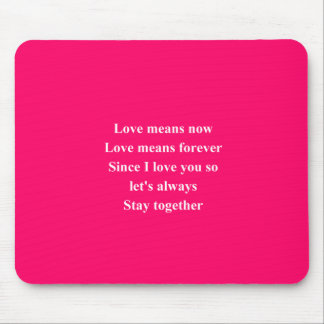 love is now mouse pad