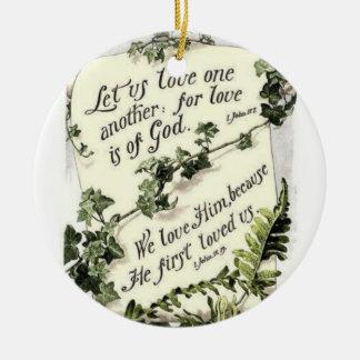 Love Is Of God Round Ceramic Decoration