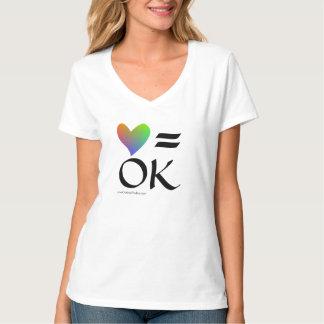 Love Is OK (rainbow heart) T-Shirt