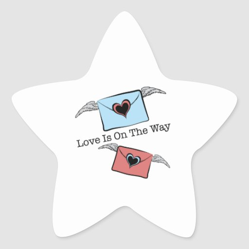 LOVE IS ON THE WAY STAR STICKERS