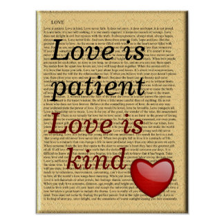 love is patient - art poster