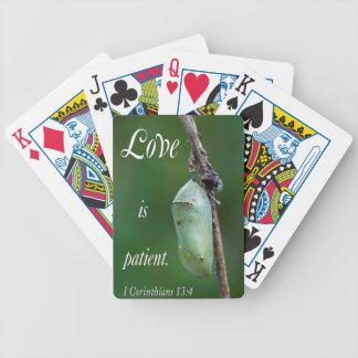 love is patient bicycle playing cards