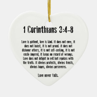 Love is Patient Ceramic Ornament