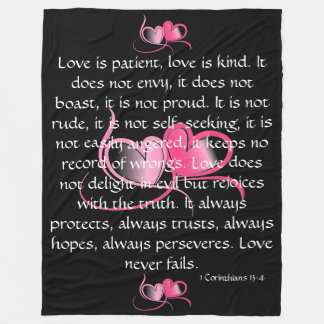 Love is Patient Fleece Blanket