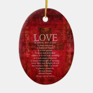 Love Is Patient Love Is Kind Bible Verse Ceramic Oval Decoration