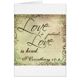 Love is Patient Love is Kind Card