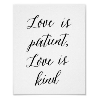 Love is patient, Love is kind - Poster