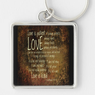 Love Is Patient Mixture Key Ring