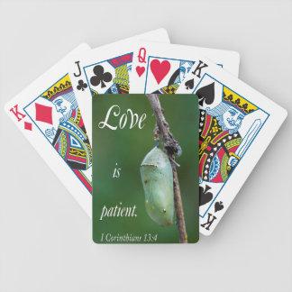 love is patient poker deck