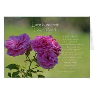 Love is Patient Roses Card