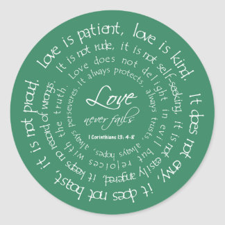 Love is Patient Scripture Wedding Envelope Seal