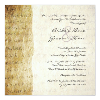 Love is Patient Vintage Wedding Invitation