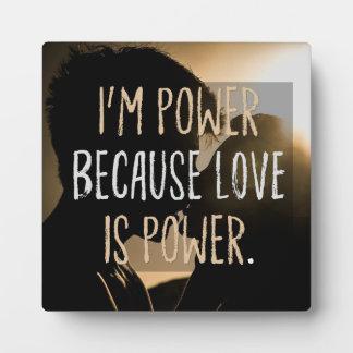 Love Is Power Plaque