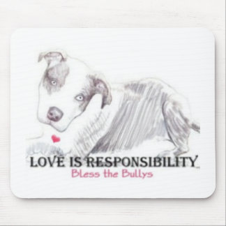 Love is Responsibility mousepad