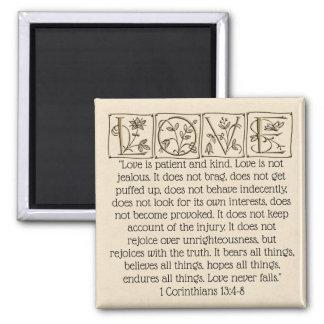 Love is...Scripture Magnet~Gold Magnet