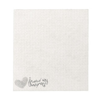 Love is sealed with thumbprints heart notepads