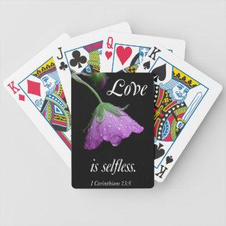 love is selfless poker deck