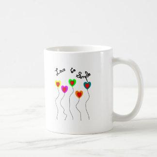 Love is Simple-Balloon Hearts Coffee Mugs