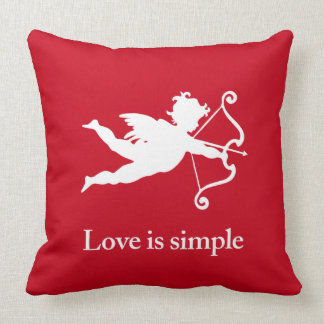 Love_is_simple white Cupid Cushion