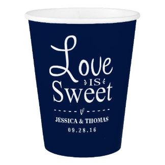 Love Is Sweet! Custom Navy Blue Wedding