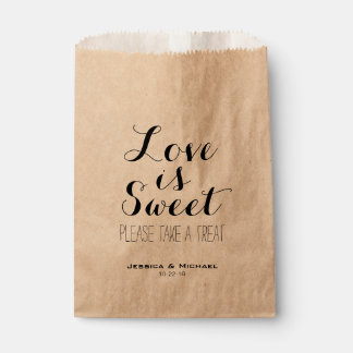 Love is sweet custom wedding candy buffet favor favour bags