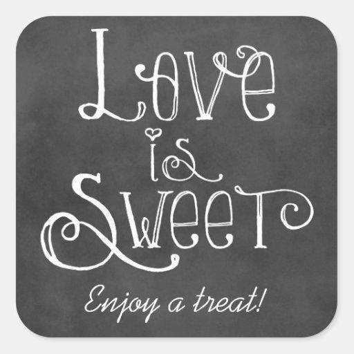 Love is Sweet Favor Sticker   Chalkboard Charm