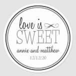 Love Is Sweet Labels (Black / Grey) Stickers