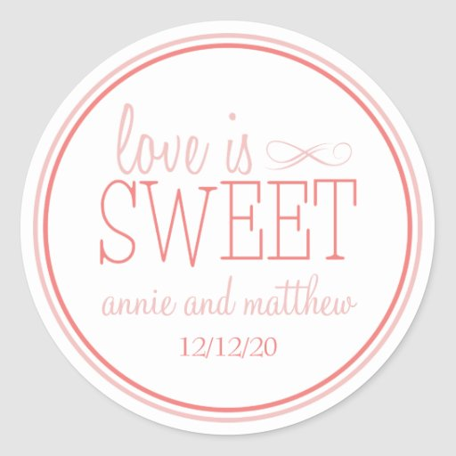 Love Is Sweet Labels (Blush / Terra Cota) Stickers