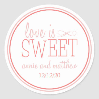 Love Is Sweet Labels Blush Terra Cota Stickers