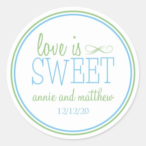 Love Is Sweet Labels (Pale Blue / Mint Green) Stickers