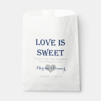 Love Is Sweet Navy and Grey Wedding Bags Favour Bags