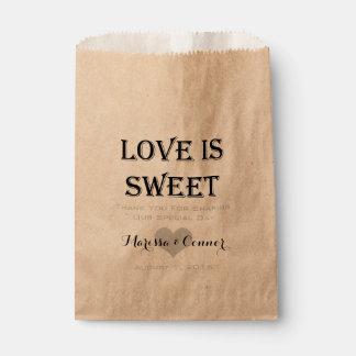 Love Is Sweet Personalised Wedding Favour Bag