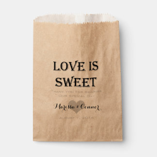 Love Is Sweet Personalised Wedding Favour Bag Favour Bags