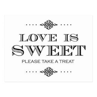 Love is Sweet Please Take a Treat Postcard