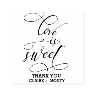 Love is Sweet Rubber Stamp