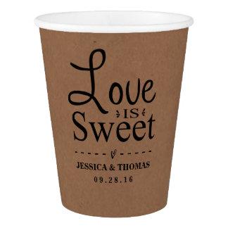 Love Is Sweet! Rustic Kraft Custom Wedding