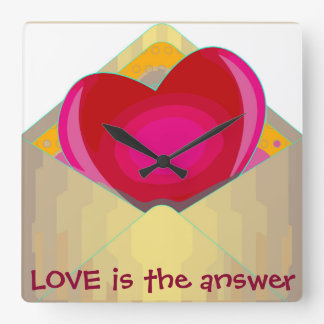 LOVE is the answer Adorable Wall Clock