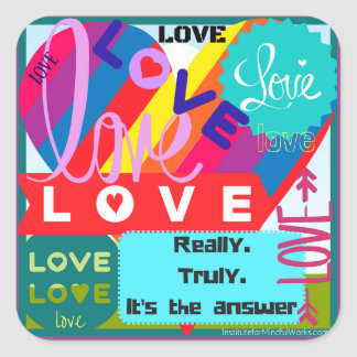 Love is the Answer Jumble Square Sticker