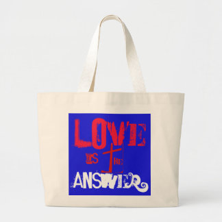 Love is the Answer Large Tote Bag