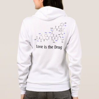 Love is the Drug - Oxytocin Molecule Hoodie