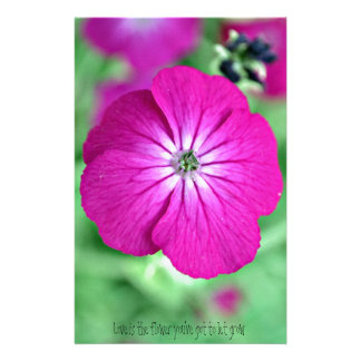 Love Is The Flower Personalized Stationery
