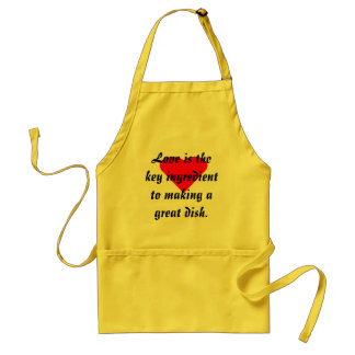Love Is The Key Ingredient To Making A Great Dish! Adult Apron
