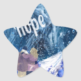 Love is the only hope in our life. star sticker
