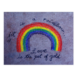 Love Is The Pot of Gold Postcard